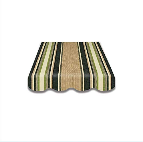 Tela de toldo para tienda de campaña, protección solar, tela de toldo, tela de repuesto, varios colores, incluye volante, cosido (5,5 x 3,5 m, spd066)