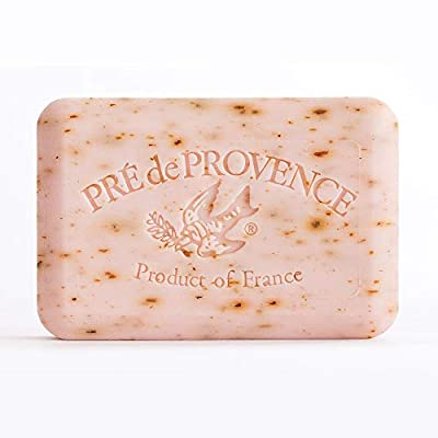 Pre' De Provence Artisanal French Soap Bar Enriched With Shea Butter, Rose Petal, 8.8 Ounce