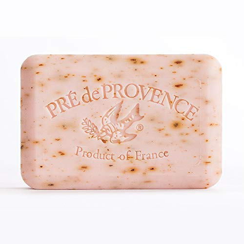 Pre de Provence Artisanal French Soap Bar Enriched with Shea Butter, Rose Petal, 250 Gram