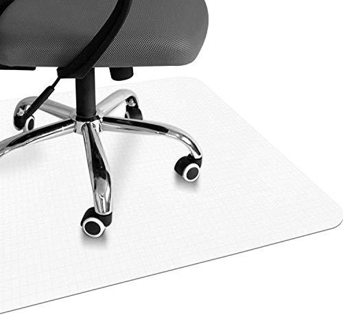ALTERDJ Bodenschutzmatte Bürostuhl, Transparent PVC Bodenunterlage Laminat, Parkett, Teppich, rutschfest (120 * 120CM)