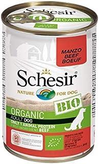 Schesir BIO Beef Flavor Wet Food For Dog 400g x 3cans