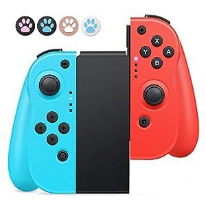 Mandos para Nintendo Switch,Timoom Bluetooth Wireless Controller Gamepad Joystick Controlador De Reemplazo Izquierdo Y Derecho para Joy Con