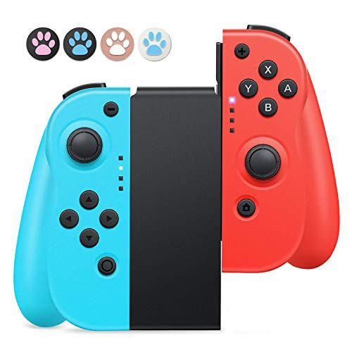 Controller Wireless Per Nintendo Switch,Timoom Joystick Gamepad Bluetooth Sostituzione per JoyCon,Doppio shock Giroscopio a 6 Assi,Compatibile Nintendo Switch Pro