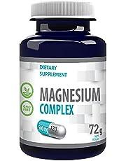 Magnesium Complex L-Threonaat, Bisglycinaat, Tauraat 2000mg per portie 120 Vegan Capsules, Certificaat van Analyse door AGROLAB Duitsland, Hoge Sterkte, Gluten-, GMO-vrij