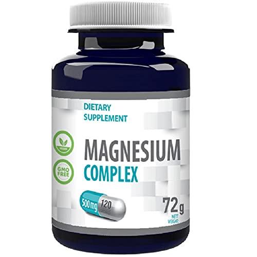 Complejo de Magnesio L-Treonato, Bisglicinato, Taurato 2000mg por porción 120 Capsule Vegan, Certificado de análisis de AGROLAB Alemania, de alta resistencia, sin gluten, sin OGM