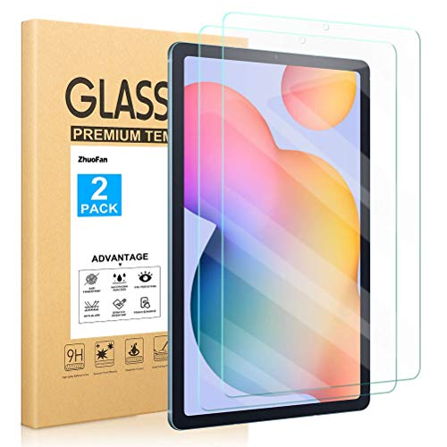 ZhuoFan Screen Protector for Samsung Galaxy Tab S6 Lite 10.4, Tempered-Glass Flim Screen Protector Compatible Samsung Galaxy Tab S6 Lite 10.4 Premium quality, [Pack 2x]