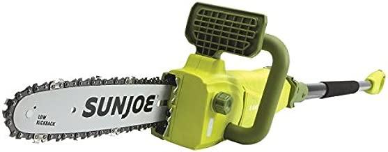 Sun Joe SWJ807E 10 inch 8.0 Amp Electric Convertible Pole Chain Saw, Green
