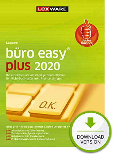 büro easy plus 2020 Download Jahresversion (365-Tage) | PC | PC Aktivierungscode per Email