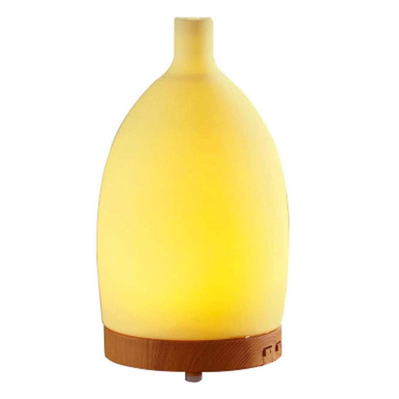 グッゲンハイム美術館保証ジョージエリオット7つの可変性の色LEDライトが付いている100mlシリコーンの花瓶の加湿器のための精油の拡散器は水の自動オフ浄化の空気を浄化します (Color : Colorful)