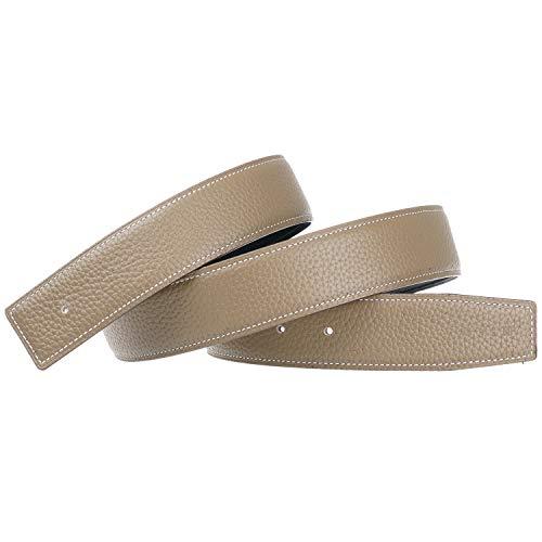 Cinture di Ricambio in Pelle Cinghia Reversibile Vera Pelle Cintura di Ricambio Larghezza 38mm - per H Fibbia Grigio