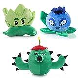 Plants VS. Zombies Plush Toy, PVZ Stuffed Soft Doll Gift for Kids (Set of 3)
