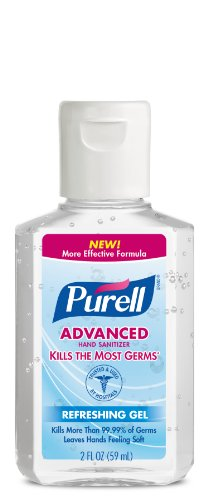 Purell Advanced Hand Sanitizer Refreshing Gel 2 oz (Pack of 12)