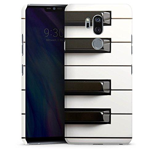 DeinDesign Premium Case kompatibel mit LG G7 ThinQ Smartphone Handyhülle Hülle glänzend Klavier Musik Piano