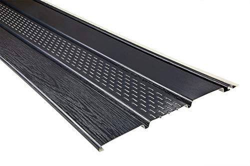 10 Kunststoffpaneele   anthrazit   perforiert   Dachkasten   umweltresistent   Unterdach   PVC   außen   Verkleidung   Soffit   200 x 30 cm   6 qm Sparpaket