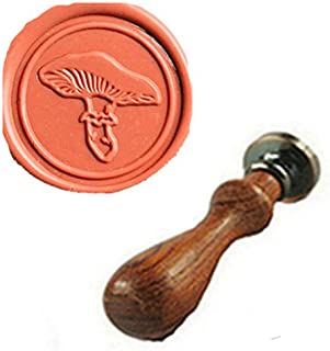 MDLG Vintage Mushroom Custom Picture Logo Wedding Invitation Wax Seal Sealing Stamp Rosewood Handle Set