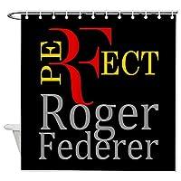 ケース ロジャーフェデラー テニス 王者 浴室の窓の装飾のためのフック付き防水シャワーカーテン