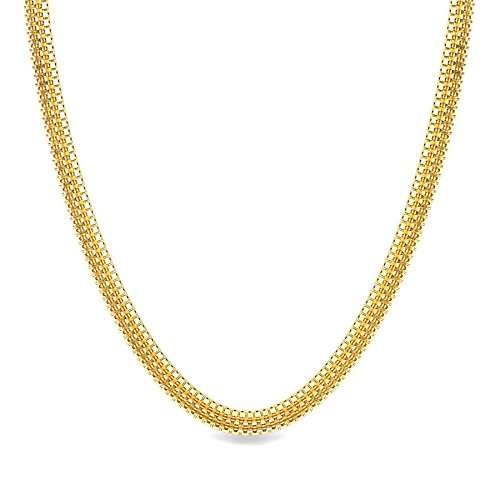 Candere By Kalyan Jewellers 22k (916) Yellow Gold Highway Chain Necklace for Men