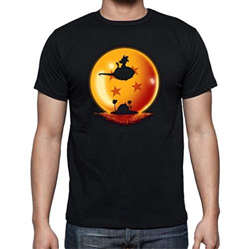 The Fan Tee Camiseta de Hombre Dragon Ball Goku Vegeta Bolas de Dragon Super Saiyan 009 M