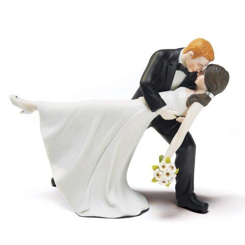 Weddingstar Romantic Dip Dancing Bride and Groom Couple Figurine for Cakes, Non Customizable, Multi