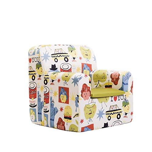 SLEEPAA Sillon bebe 1-4 años Desenfundable Lavable Resistente Seguro Ligero Cómodo Decoracion muebles niños Fabricado en España 40x40x42 cm (Big Apples)