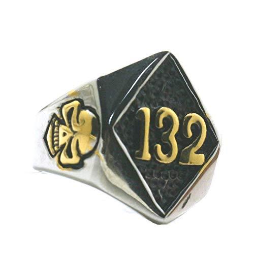 EzzySo Anillo de Calavera de Dos Tonos, Tendencia Americana número 132 Joyería de Anillo de aleación dominante (2 PCS),B,10