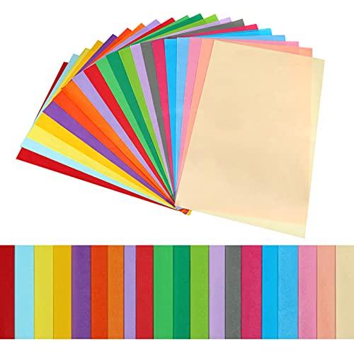 Fingertoys 100 Blatt Seidenpapier, 20 Farben Geschenkpapier Geschenk Bastelpapier für Hochzeiten, Geburtstagsfeier, Babypartys, DIY Handwerk - 13 × 20 Zoll (32 × 50 cm)