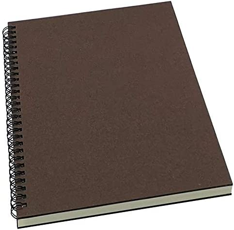 YUREE Spiral Notebook Spiral Journal Lined B5 Hard Kraft Cover Wirebound Notebook Ruled 70 Sheets product image