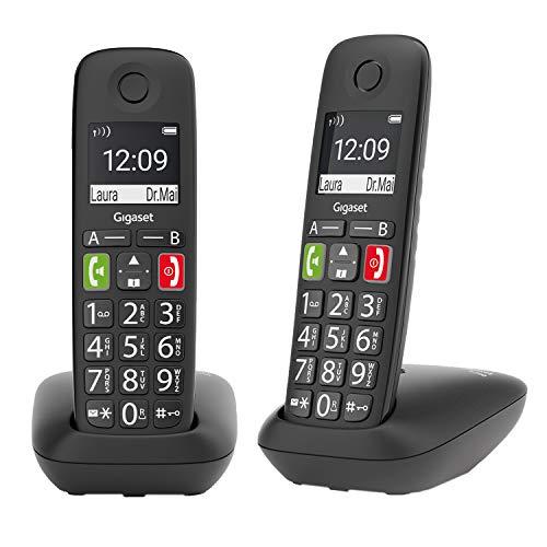 Gigaset E290 Duo Terminal de teléfono analógico Identificador de Llamadas Negro E290 Duo, Negro, 5,08 cm (2 ), Níquel-Metal hidruro (NiMH), AAA, 10 h, 200 h