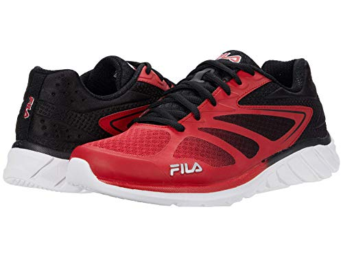 Fila Men's Memory Speedstride 4 Shoes Red/Black/Silver 8.5