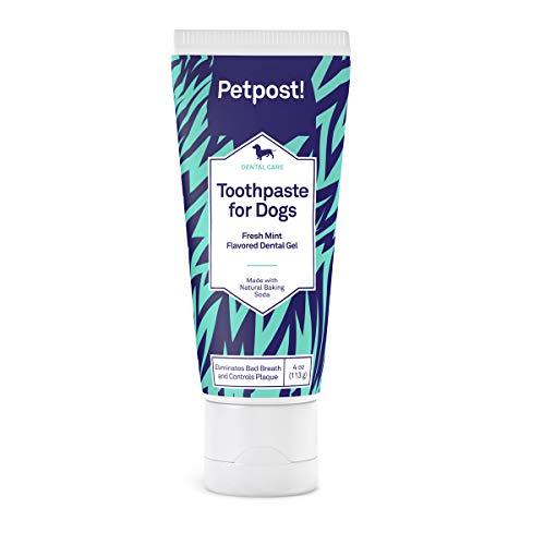 Petpost | tandpasta voor honden - kokosolie en tandgel op basis van zuiveringszout die slechte adem op natuurlijke wijze elimineert - weg plaque en tandbederf - muntsmaak