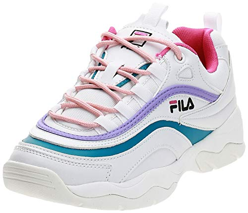 Fila Ray Low Wmn, Zapatillas para Mujer, Blanco (White 1010562-150), 37 EU