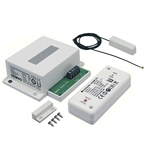 Funk - Abluft - Sicherheitsschalter für den Einbau / Funk Sicherheits Abluftsteuerung DIBt geprüft / Fensterschalter Wireless / Fensterkontaktschalter / BROKO