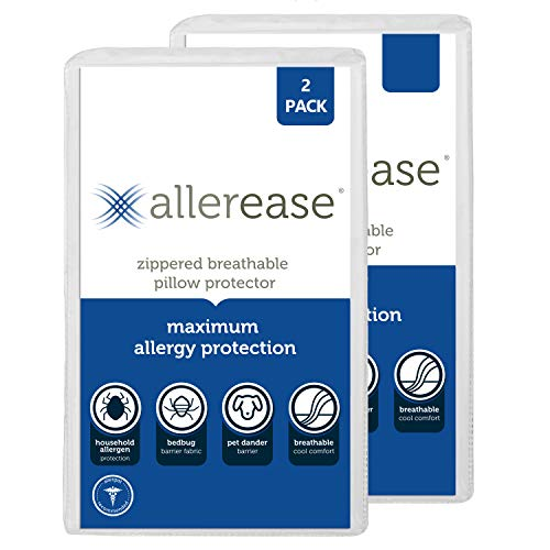 Aller-Ease Maximum Allergy Protector, Standard/Queen, 2-Pack...