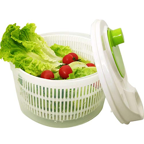 Large Salad Spinner Vegetable Washer Fruit Veggie Bowl Collapsible Salad Spinner with Lid Veggie Dryer Set for Kitchen Tools of Lettuce Dryer Salad Shooter Small Salad Spinner