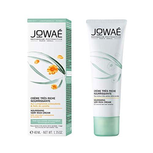 JOWAÉ Crema Molto Ricca Nutriente Viso con Olio di Camelia, per la Pelle da Secca a Molto Secca, anche Sensibile, Formato da 40 ml