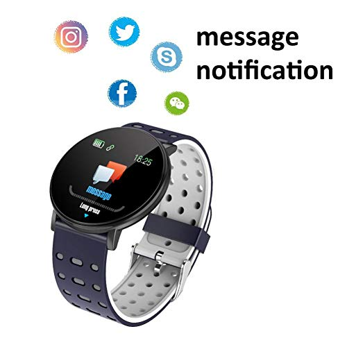 MOLEK Bluetooth Smartwatch for Women,IP68 Waterproof with 1.3 Inch Full Touch Screen, Heart Rate Monitor, Sleep Monitor, Activity Tracker Pedometer SMS Call Notification smart watch for Android & iOS