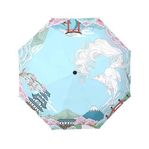 Koreanische Katze Schwarz Kunststoff Regen Regenschirm Falten Sonnenschutz UV-Schutz und Wind Japanische Kleine Frische Frauen Nette Regen Faltbarer Regenschirm Sonnen- und Regenschirm