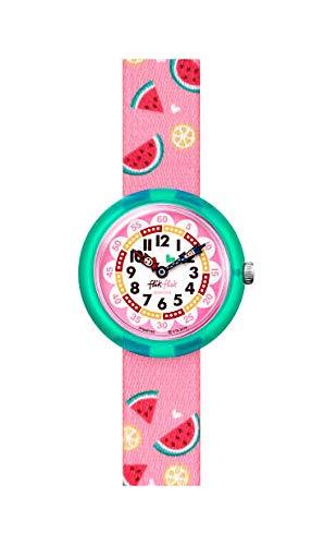Flik Flak Unisex Kinder Analoger Quarz Uhr mit Textil Armband FBNP158