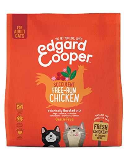 Edgard & Cooper Droogvoer - brokken voor Volwassen Katten met Verse scharrelkip - Graanvrij en Boordevol vers vlees 1,75 kg