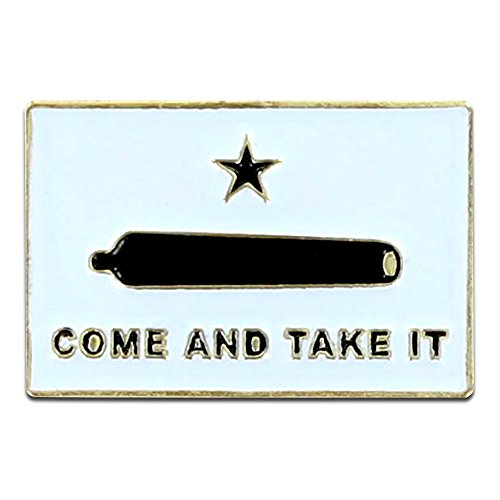 Online Stores Gonzales Flag Lapel Pin - Come and Take It