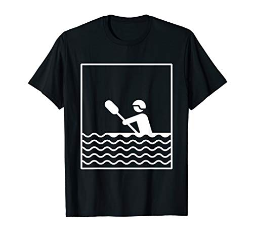 Kanu Fahrer T-Shirt Geschenk Kajak Kayak Kajakfahrer Paddeln