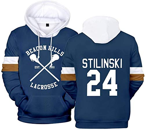 WAWNI Teen Wolf Stilinski 24 Lahey McCall Pull à capuche pour homme - - Small