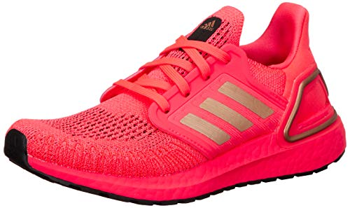 adidas Ultraboost 20 Running Shoe Running Jogging on Road or Underground Lightweight with Neutral Support for Women Pink Pink Size: 4 UK