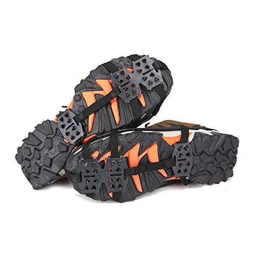 QMWY Spikes Schuhe,schuhspikes Outdoor Footwear Traction Grippers Schützen Sie Sicheren Anti-rutsch-schneegriff Mit 24 Spikes Zum Wandern, Joggen, Trekking Und Bergsteigen