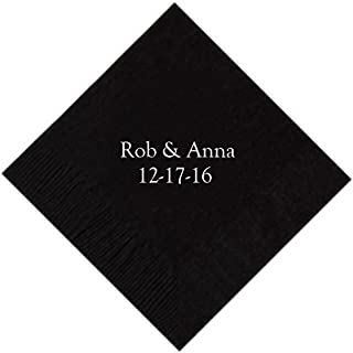 Personalized Cocktail, Beverage or Dessert Napkins - 2 Line (100)