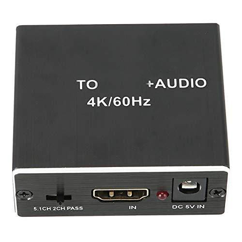 Garsentx Audio-Extraktor HDMI2.0 4K @ 60Hz YUV 4: 4: 4HDR-TV-Kabel zu 3.5 Optischer Audio-Extraktor für AC/DTS/LPCM