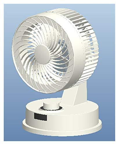 GZA Ventilador Eléctrico del Ciclo del Fanático del Ciclo Pares De Aire De La Turbina De La Turbina Stencil Stayhead Student Sound Estacionario (Color : White, Size : 7 Inch)