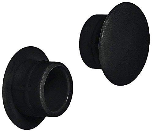 Gedotec Schrauben-Kappen Kunststoff Möbel-Abdeckkappen schwarz Schrauben-Abdeckungen rund - H1117 | für Blindbohrung | Ø 12 mm | 20 Stück