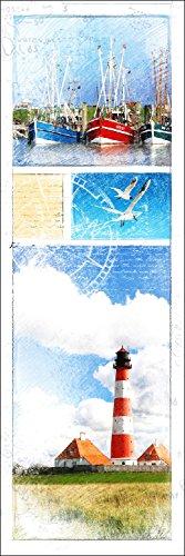 Pro-Art-Bilderpalette g1340e Tableau Mural Impression giclée Motif Mer du Nord I 150 x 48 cm, Multicolore, 120 x 40 cm