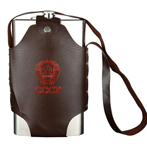 64oz CCCP Hip Flask, omvangrijke wodka geesten wijnset, spierman goede hoeveelheid alcohol grote fles